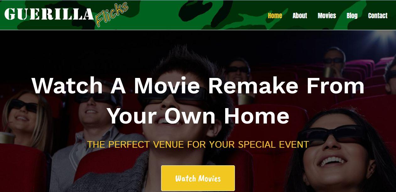 Guerilla Flicks Launches New Website!